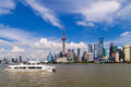 Shanghai pudong beautiful scenery in new area Stock Photo