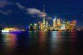 Shanghai pudong beautiful scenery in new area Royalty Free Stock Image