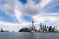 Shanghai pudong beautiful scenery in new area Royalty Free Stock Photo