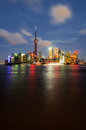 Shanghai pudong beautiful scenery in new area Stock Photography