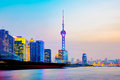 Shanghai Pudong financial district Royalty Free Stock Photo