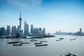 Shanghai pudong and the huangpu river Stock Photo