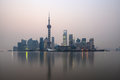 Shanghai skyline at dawn Stock Image