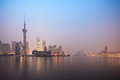 Shanghai skyline in dawn Stock Image