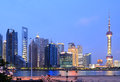 Shanghai skyline at New night city landscape Royalty Free Stock Photography