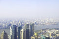 Shanghai skyline overlooking Stock Photography