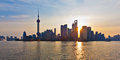 Shanghai skyline at sunrise Royalty Free Stock Photography