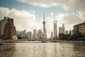 Shanghai skyline on the suzhou river Royalty Free Stock Image