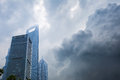 Shanghai a storm is brewing. Royalty Free Stock Photo