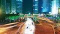Shanghai trafic at night city Royalty Free Stock Photography