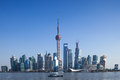 Shanghai TV tower  and Lujiazui, Landmark Royalty Free Stock Photos