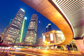 Shanghai  Urban landscape and modern architecture Night view Royalty Free Stock Photo