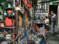 Shanghai vendor street in old Royalty Free Stock Photography