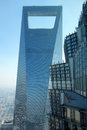Shanghai world financial center and  jinmao tower Royalty Free Stock Photo