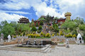 Shangrila china temple on a hill in shangri la yunnan Royalty Free Stock Images