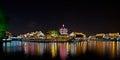 Shantang at night, Suzhou, China Royalty Free Stock Photo