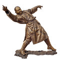 Shaolin warriors monk bronze statue Royalty Free Stock Image