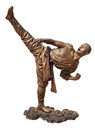 Shaolin warriors monk bronze statue Royalty Free Stock Photos