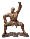 Shaolin warriors monk bronze statue Stock Photo