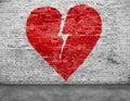 Shape of broken heart Royalty Free Stock Photo