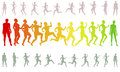 Shape running losing weight woman silhouettes modify the Stock Photo