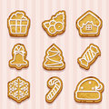 Shaped cookies for Christmas and New Year