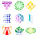 Shapes from dots many colorful Stock Photography