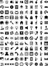 Shapes house automation symbols in black color Royalty Free Stock Photo