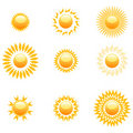Shapes of sun Royalty Free Stock Image