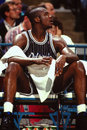 Shaquille o neal orlando magic star center image taken from color slide Stock Photos