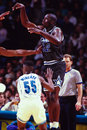 Shaquille o neal orlando magic star center image taken from color slide Royalty Free Stock Photography