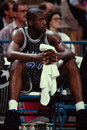 Shaquille o neal orlando magic star center image taken from color slide Royalty Free Stock Photo