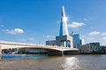 The shard london of glass in is currently tallest building in european union landscape orientation Royalty Free Stock Image