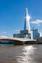 The shard london of glass in is currently tallest building in european union portrait orientation Royalty Free Stock Photos