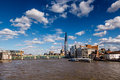 The shard and southwark bridge in london united kingdom Royalty Free Stock Photos
