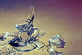 Shards bring good fortune picture of a broken glass and the text Royalty Free Stock Photography