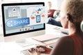Share Connect Communicate Transfer Cloud Concept