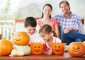 We share everything, even Halloween treats Royalty Free Stock Photo