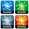 Share icons Stock Image