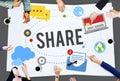 Share Post Media Trending Social Media Concept Royalty Free Stock Photo