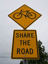 Share the Road Signs Royalty Free Stock Photo