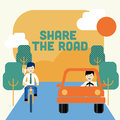 Share the road Royalty Free Stock Photo