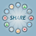 Share sign Royalty Free Stock Image