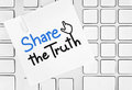 Share the truth Royalty Free Stock Photos