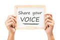 Share Your Voice Royalty Free Stock Photo