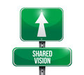 Shared vision road sign Royalty Free Stock Photos