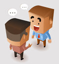 Sharing idea with boss vector illustration Stock Photo