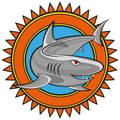 Shark comic illustration of a vector clip art Stock Photos