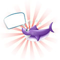 A shark with an empty callout illustration of on white background Royalty Free Stock Image