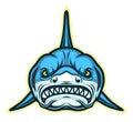 Shark face mascot